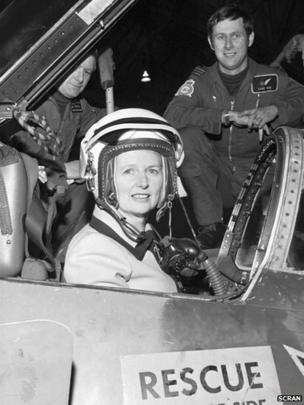 Margaret Thatcher at RAF Leuchars