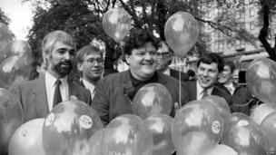Alistair Darling and Robbie Coltrane