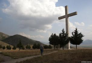 Cross in northern Greece