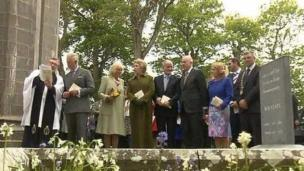 The royal couple visited the grave of Irish poet WB Yeats