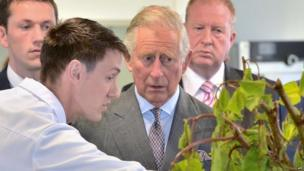 Earlier on Wednesday, the prince was also given a tour of the Institute of Technology in Sligo