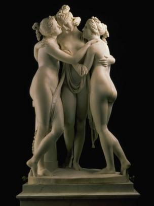 The Three Graces - Aglaia, Euphrosyne and Thalia (1815 - 1817), by Antonio Canova