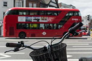 Bicycle handlebars and London bus