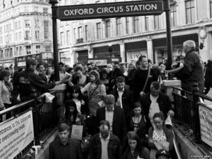 London commuters at Oxford Circus