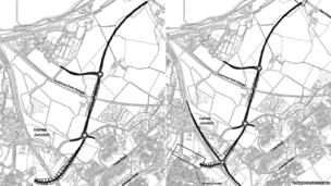 Proposed new roads layout for Inverness