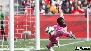 Ivory Coast goalkeeper Dominique Thiamale