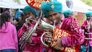 The Rajasthan brass band