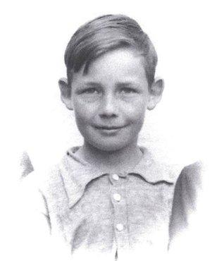 Dave Miller, 12, at the time he went to live in the caves.