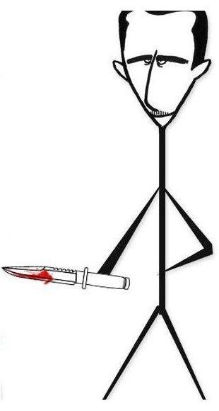 A stickman representation of Bashar al-Assad