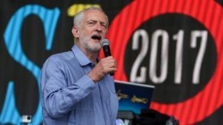 Corbyn at Glastonbury