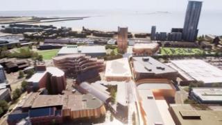 Phase one of the Swansea regeneration