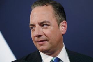 Republican National Committee Chair Reince Priebus at a debate in Longwood University in Farmville, Virginia, 4 October