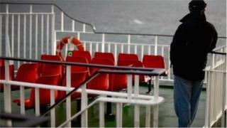 Passenger on ferry