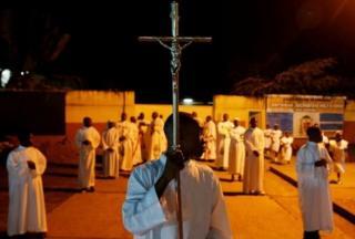 Perayaan di Kinshaha, Republik Kongo.
