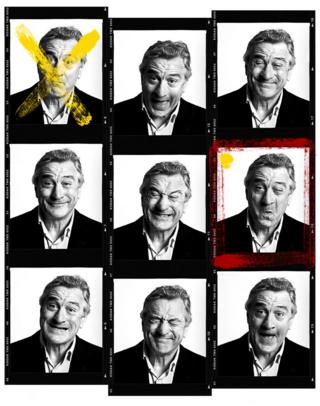 Robert de Niro pulls funny faces for the camera