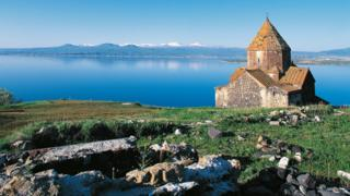 Church at Lake Sevan, Armenia