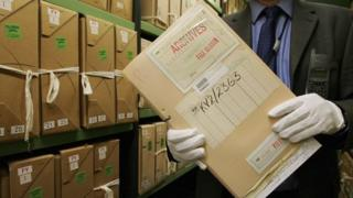 Documents stored in the National Archives