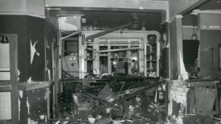 Scene of the Woolwich bombing in November 1974