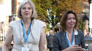 Theresa May and Fiona Cunningham