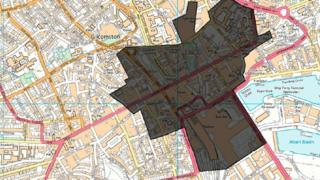 Planned dispersal zone