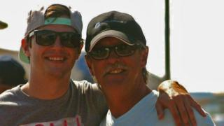 Tyler Howlett, left, pictured with his father Joseph Howlett, right