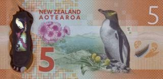 Back of the New Zealand $5 note