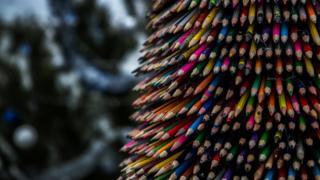 Ялинка з олівців у Доброславі