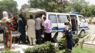Pipo dey wait for front of Aminu Kano Teaching Hospital, Kano