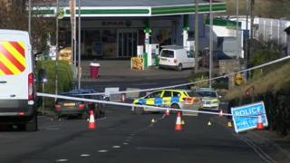 Crash scene at The Grove in Dorchester
