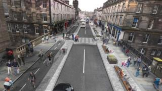 Cycling infrastructure plans for George IV bridge