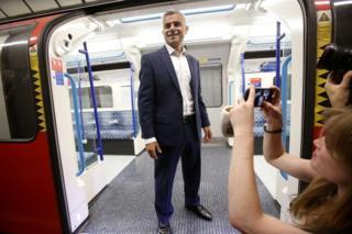 Sadiq Khan on Tube