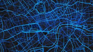 London - running routes (by Strava users 2015)