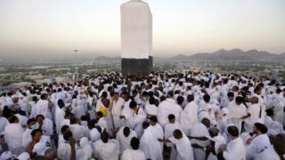 Pilgrims pray on the Mountain of Mercy, near Mecca, Saudi Arabia (file photo)