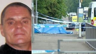 Albert McDonald and crime scene