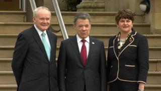 NI leaders and Santos