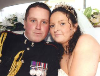 Lance Corporal Kevin Greenfield and his wife Charlene