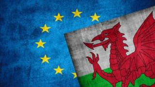 welsh and eu flag
