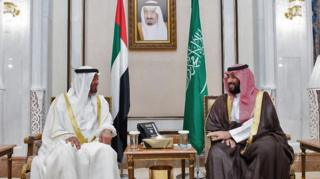 ولي عهد أبو ظبي، محمد بن زايد، ومحمد بن سلمان
