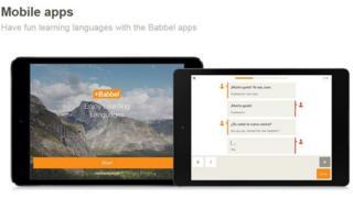 Babbel web page
