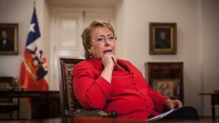 Michelle Bachelet en una entrevista (crédito: Getty Images)