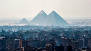 Pyramids at Cairo, 2018