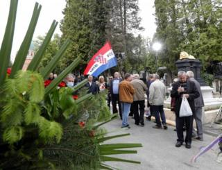 People attend a memorial event in Zagreb, Croatia. Photo: 16 May 2020