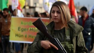 Курдская ополченка