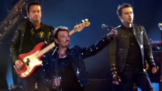 Johnny Hallyday performs in St-Denis, France. Photo: May 2009