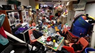 Belongings left in a dorm room in Hong Kong Polytechnic