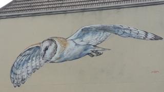 Barn owl mural