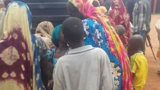 One of the refugees returning to Nigeria from Cameroon