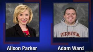 Alison Parker and Adam Ward are pictured in this handout photo from TV station WDBJ7 obtained by Reuters on 26 August 2015