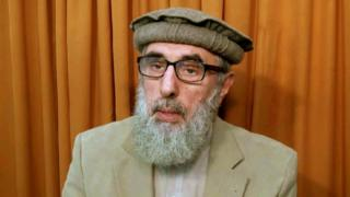 Still from video released to AP in November 2015 shows Afghan warlord Gulbuddin Hekmatyar, now in his late 60s, in an undisclosed location.