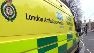Ambulance in Whitehall